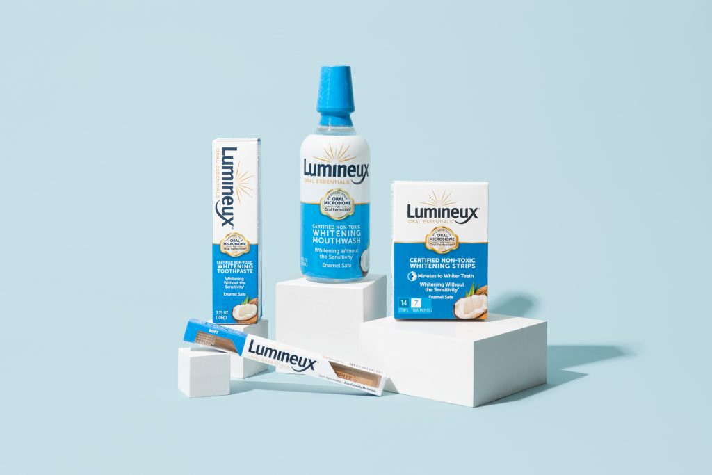 Lumineux Oral Essentials Teeth Whitening Kit e-commerce product photo taken by Soona