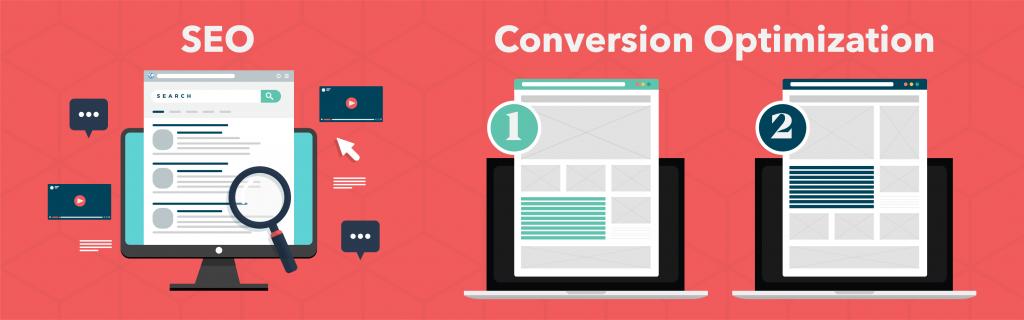 Illustration of SEO & Conversion Optimization for website